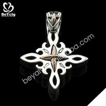Classic cross design men's venetian link chain necklace