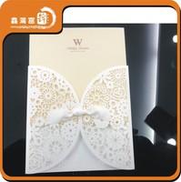 China handmade latest cut wedding invitation card