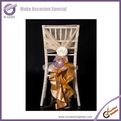 #703 organza sash fancy sash wholesale event decor resin chair covers
