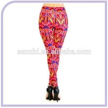 2015 New Women Innovative Geometric Digital Printing Elasticity Moisture Leggings Slimming Tights Pants