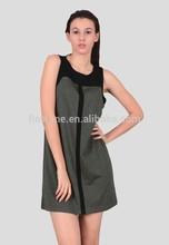 The merino wool sleeveless and crew neck women's dress