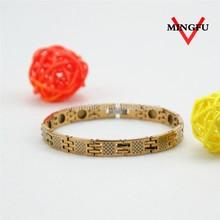 germanium neodymium magnetic plated 24k gold bracelet prices