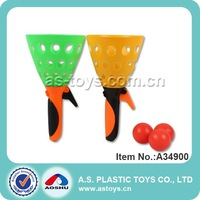 Toy sport plastic click catch ball game