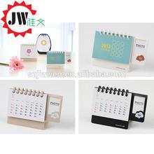 2015 newest custom made desk design bamboo wall calendar with best price