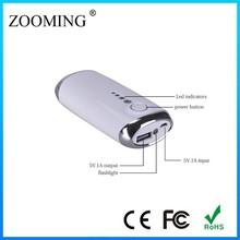 blue/white color CE FC ROHS 5600mAh mobile portable power bank