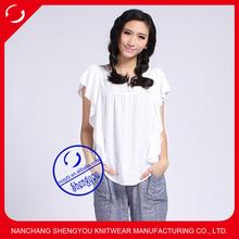 custom 100 viscose white t shirt women wholesale