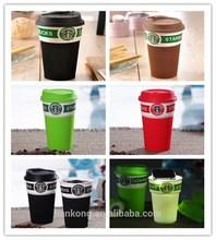 Hot Sale Creative Ceramic white coffee Starbucks lovers mug/cup Wholesale