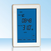 2 zone control touch screen room thermostat for European market