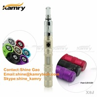 Hot ecig vaping mod variable voltage personal vaporizer pen x8j, Glass Drip Tip kamry X8J from China Supplier
