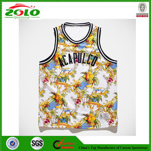 New Style Professional Short Sleeve Basketball Jersey