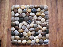 diamond pave bead,nature pebble mesh from China