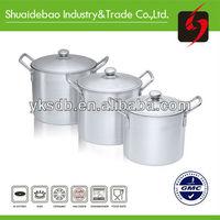 663EDBL 3PCS fluorescent porcelain coated cast iron cookware