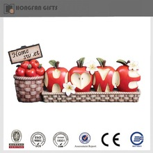 cute apple shape polyresin Christmas