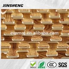 Thin economic wooden floor mat