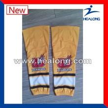 custom athletic socks,custom ice hockey sock,godlen yellow hockey sock