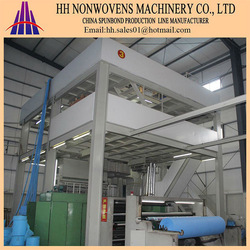 german technology S single beam pp spunbond nonwoven fabric making machine for home textile fabric