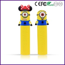 Despicable Me cartoon PVC power bank with 2600mAh