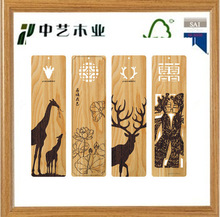 Hot Sale laser engraving wood promotional cheap handmade gifts customized wooden bookmark