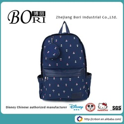 fashion design wholesale cheap canvas high school backpack