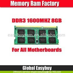 Bulk stock cheap non ecc 8gb wholesale ddr3 ram for laptop