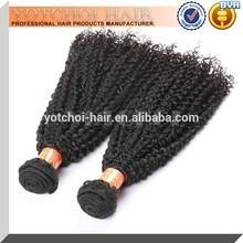 Wholesale 100% Virgin Human Hair,5A Brazilian Kinky Curl Human Hair Extension Double Weft To Ensure No Shedding