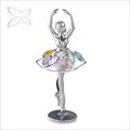 El cliente- hecho magnífico astilla de metal plateado bailarina estatuilla