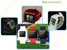 Smart Watch fashion dual time shock resist quartz men watch blue strap 50m waterproof