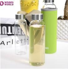 Portable Heat Resistant Food Safe Water Bottle Glass