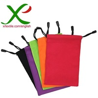 Microfiber sunglasses cleaning pouch