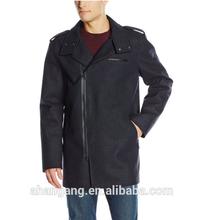 2015 New fashion business wool long mens coat
