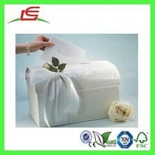 Q1034 White Decorative Fancy Cardboard Treasure Chest Box, Elegant Italian Wishing Wells Chest Box