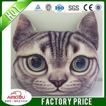 Plush cat face dog face printed cushion cover,animal face cushion