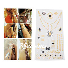 New Fashion Butterfly Pattern Gilding Water Transfer Printing Waterproof Paper Temporary Tattoos Sticker