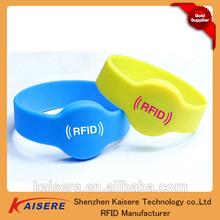 RFID mifare 4k s70 custom silicone bracelets