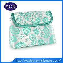 custom travel satin cosmetic bag