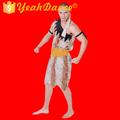erkek cadılar bayramı kostümü acımasız caveboy leopar elbise