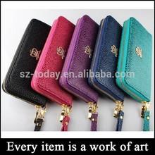 (sz-wallet 111) fashion long branded wallet, crown smart phone wallet pu purse