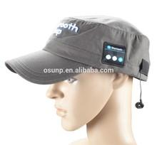 Removable 3D embroidery BLUETOOTH BASEBALL CAP HK Fair unique headphone