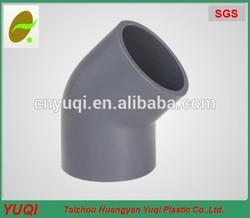 PVC ELBOW 45 DEGREE,PVC PIPE fitting,PVC ASTM sch40,asian tube fitting