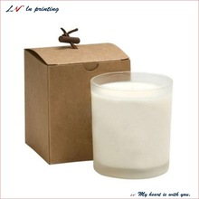 Custom Craft Paper Folding Candle Box/ Cardboard Candle Packaging Boxes/ wholesale recyclable tealight candle box