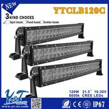 Y&T YTCLB120C Curved LED light bar, 10-30V Car accessory LED bar 9-30V off road LED bar lights