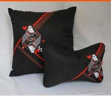 custom embroidery plush car neck cushion