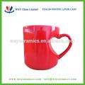 210ml personalizado canecas de casal, cerâmica coração vermelho em forma de canecas