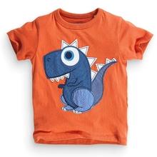 MS63182C fashion kids clothes appliqued dinosaur prints baby t-shirt