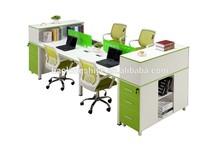 modern 4 person office desk computer workstation desk, modular office workstation