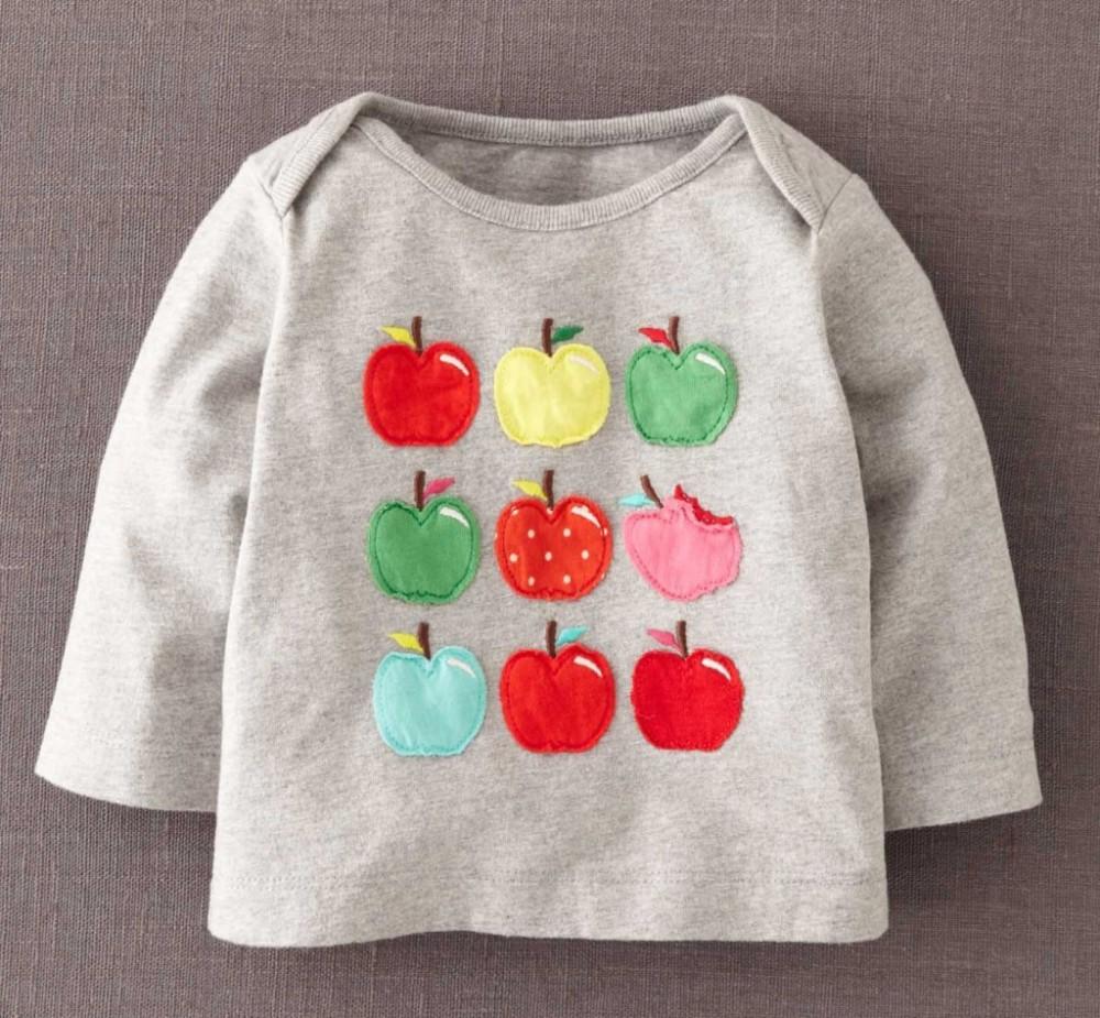 2015 Good Quality 100% Cotton Cartoon Tops Printed O-neck Fashion New design t shirts of Girls