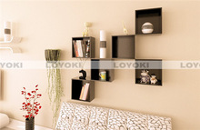 wood square wall mount cube shelf decorative frozen vegetables