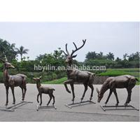 bronze life size deer statues for garden