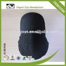 Black Color 100% Cotton Plain Dyed Hat / Blank Baseball Cap without Logo