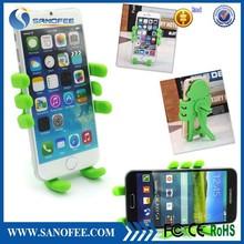 Promotion monkey shape silicone mobile phone holder